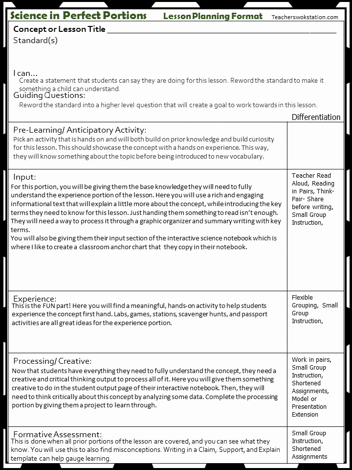 Ngss Lesson Plan Template Fresh Teks Lesson Plan Template Idealstalist