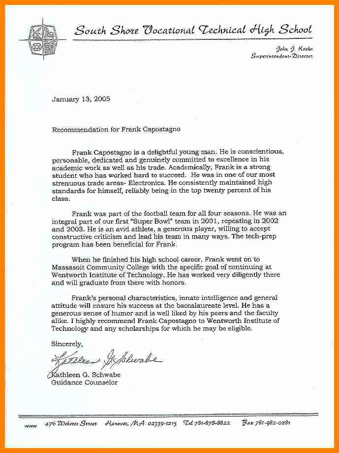 Nhs Letter Of Recommendation Fresh 12 Re Mendation Letter for National Honor society