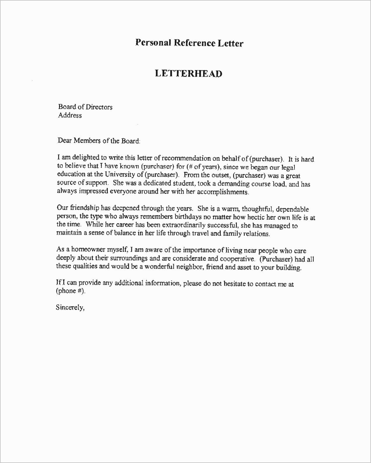 Nhs Letter Of Recommendation New Character Witness Letter Sample and Reference for Student