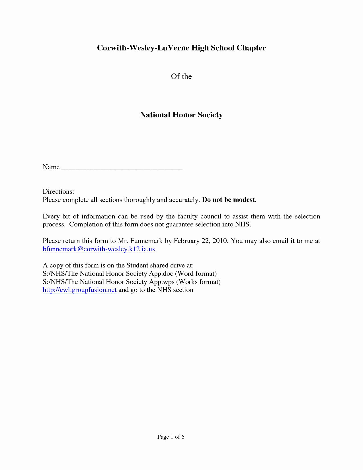 Nhs Letter Of Recommendation New Sample Re Mendation Letter for National Honor society