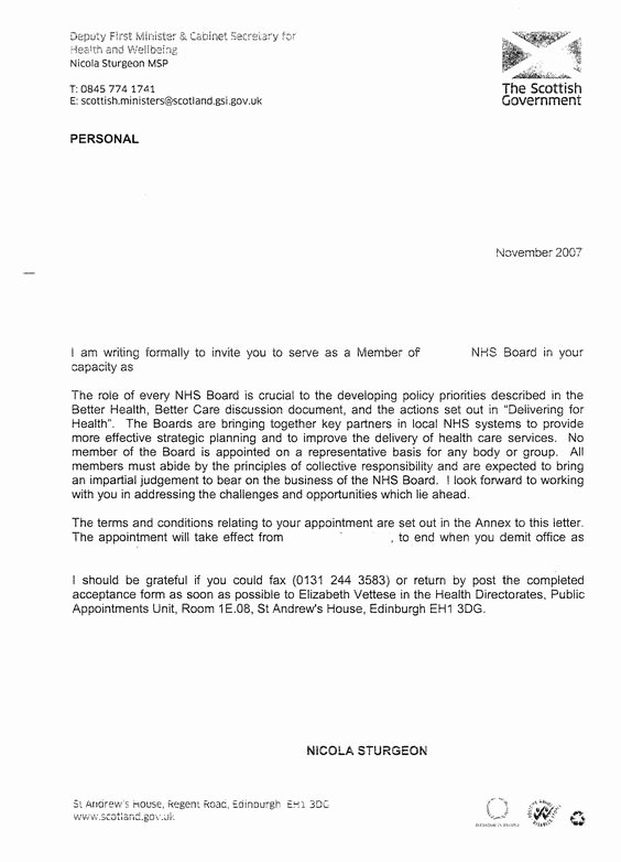 Nhs Letter Of Recommendation Template Best Of Nhs Appointment Letter Template