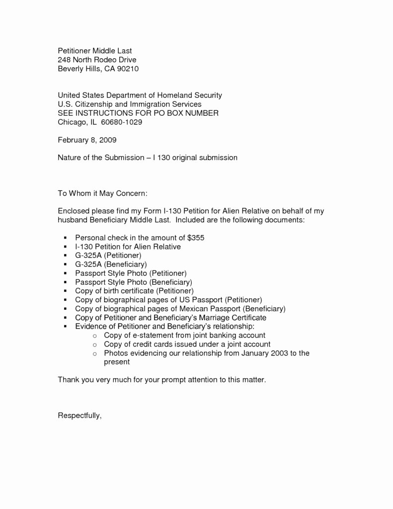 Niw Recommendation Letter Sample New Uscis Letter Re Mendation Sample Cover Letter
