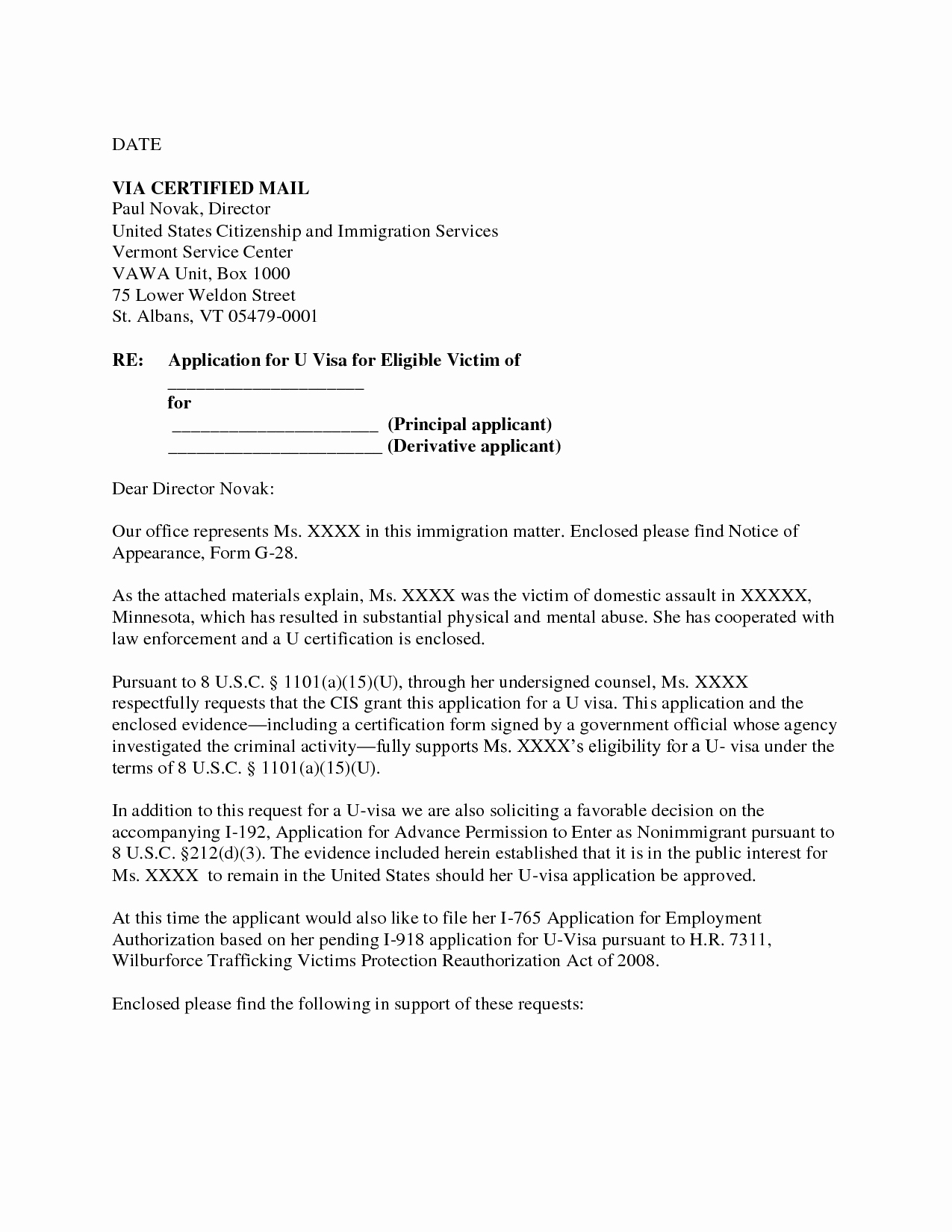 Niw Recommendation Letter Sample Unique Immigration Waiver Letter Sample Hardship Letter for