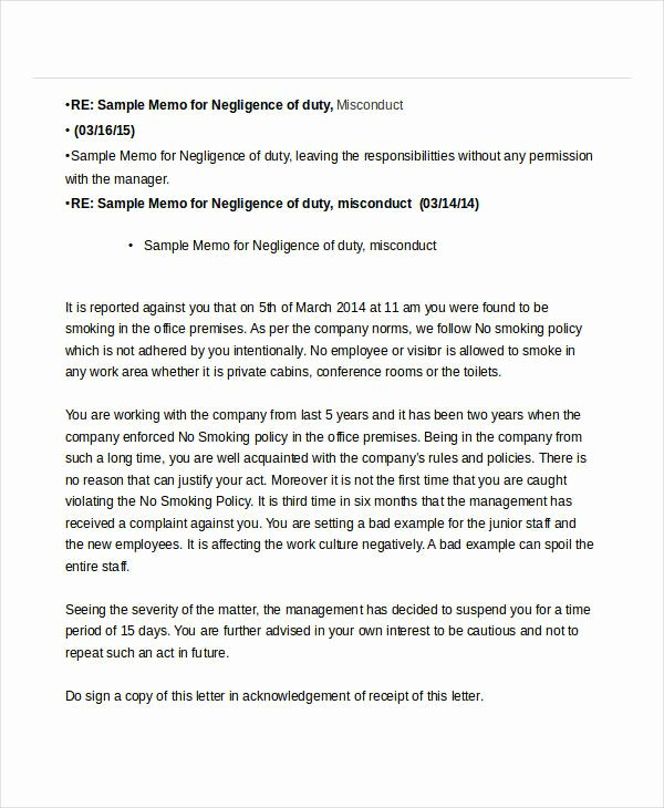 No Smoking Letter to Employees Beautiful 11 Hr Memo Examples Samples