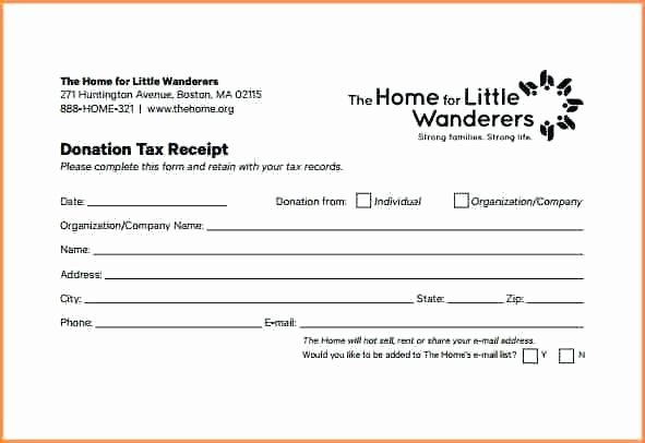 Non Cash Donation Receipt Template Awesome Charity Donation Receipt Template Uk Modelffo