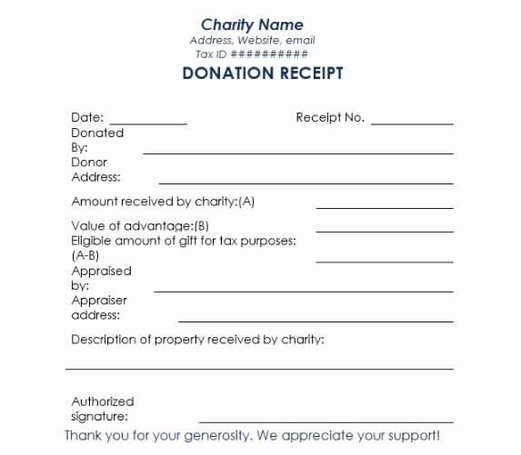 Non Cash Donation Receipt Template Best Of 16 Donation Receipt Template Samples