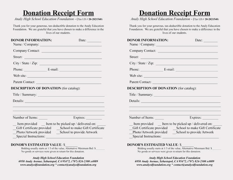 Non Cash Donation Receipt Template Inspirational 45 Free Donation Receipt Templates & formats Docx Pdf