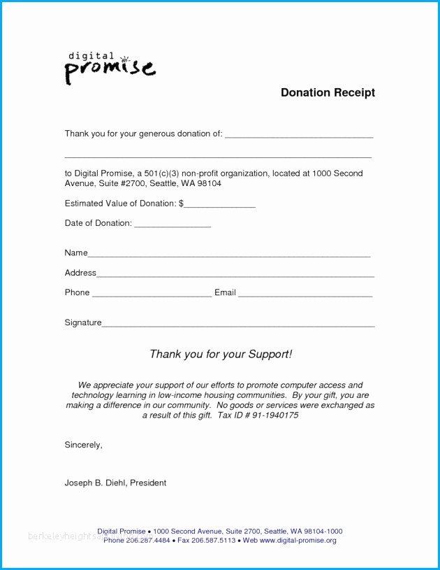 Non Cash Donation Receipt Template New Donation Slip Sample