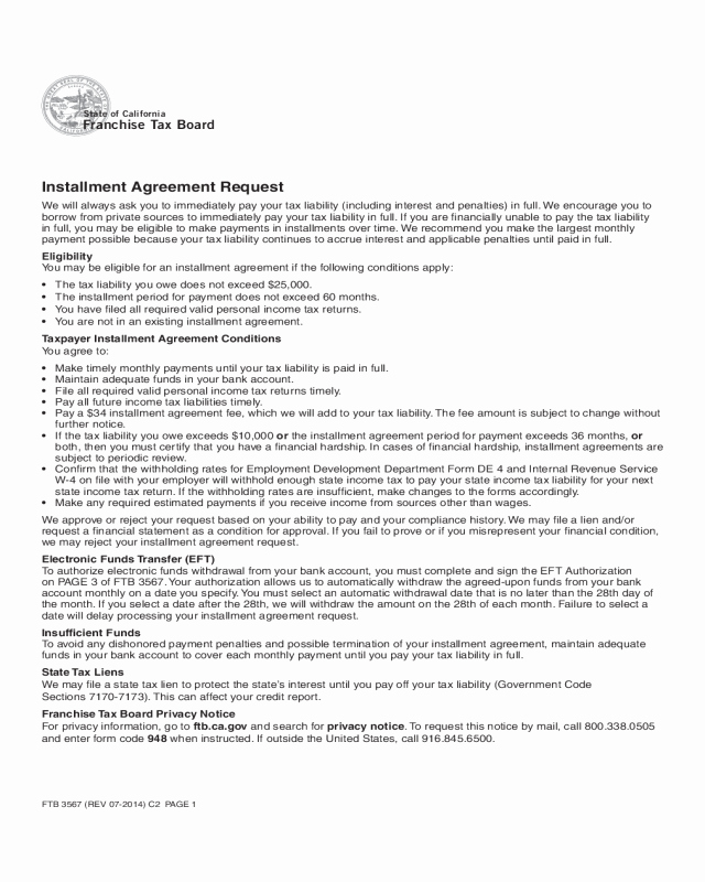 Non Compete Agreement Georgia Template Best Of 2019 Installment Agreement form Fillable Printable Pdf
