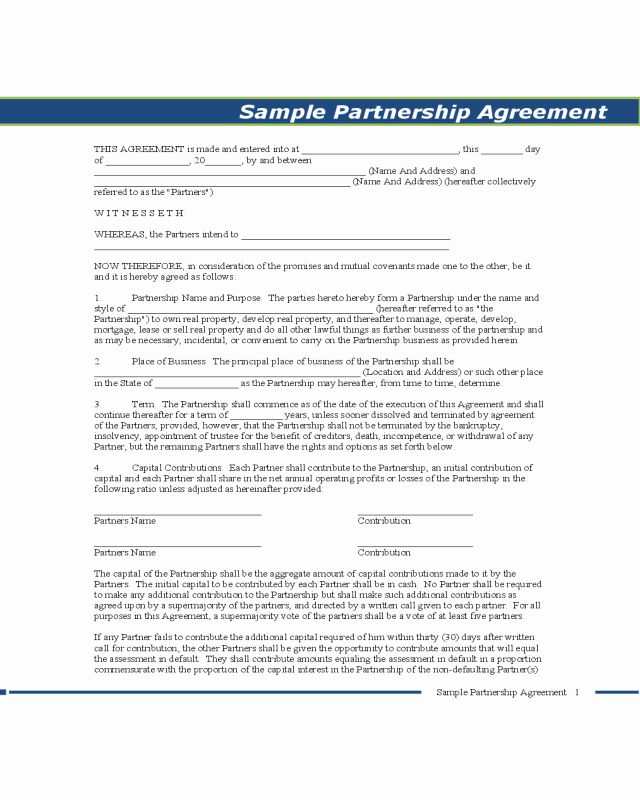 Non Compete Agreement Georgia Template Fresh 2019 Partnership Agreement form Fillable Printable Pdf