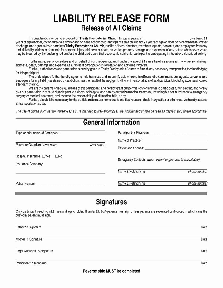 Non Compete Agreement Georgia Template New General Liability Waiver form