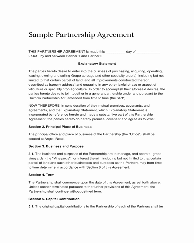 Non Compete Agreement Georgia Template Unique 2019 Partnership Agreement form Fillable Printable Pdf