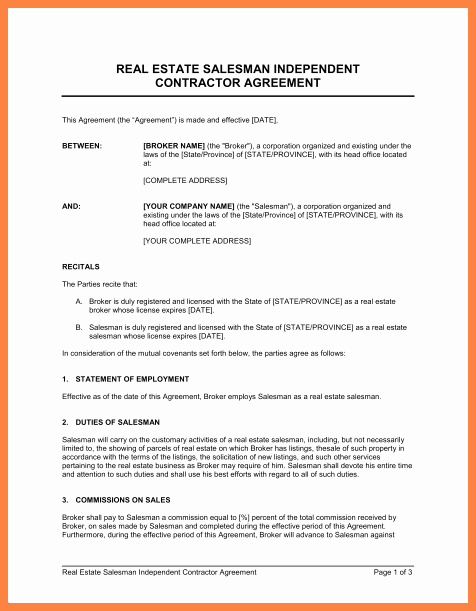 Non Profit Collaboration Agreement Template Unique 4 Simple Independent Contractor Agreement Template