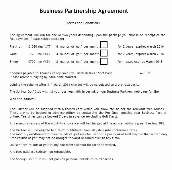 Non Profit Collaboration Agreement Template Unique Partnership Agreement Template