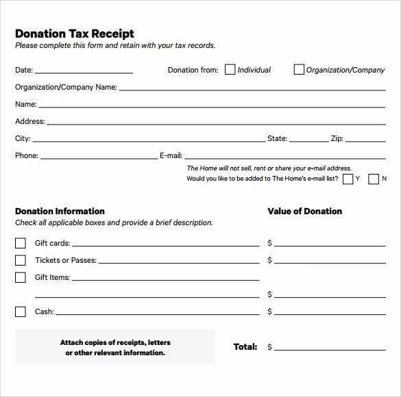 Non Profit Donation Receipt Template Fresh 20 Donation Receipt Templates Pdf Word Excel Pages