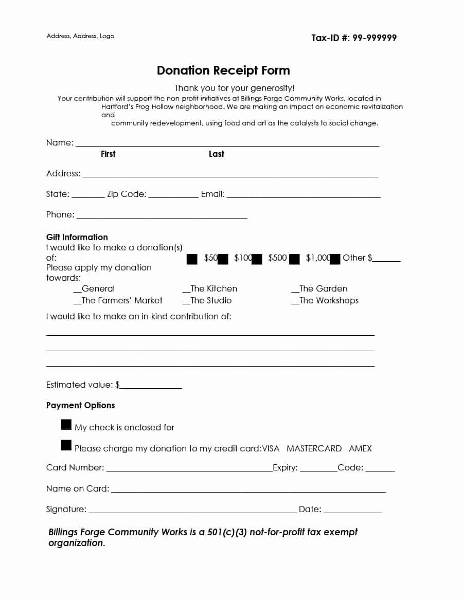 Non Profit Donation Receipt Template New 40 Donation Receipt Templates & Letters [goodwill Non Profit]