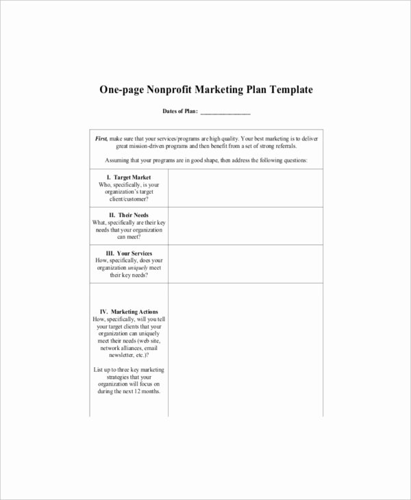 Non Profit Marketing Plan Template New 7 E Page Marketing Templates – Free Sample Example