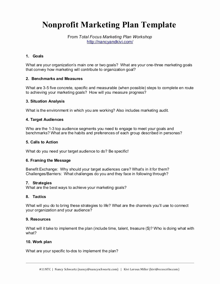 Non Profit Marketing Plan Template New Marketing Proposal Templates for Nonprofit Marketing Plan