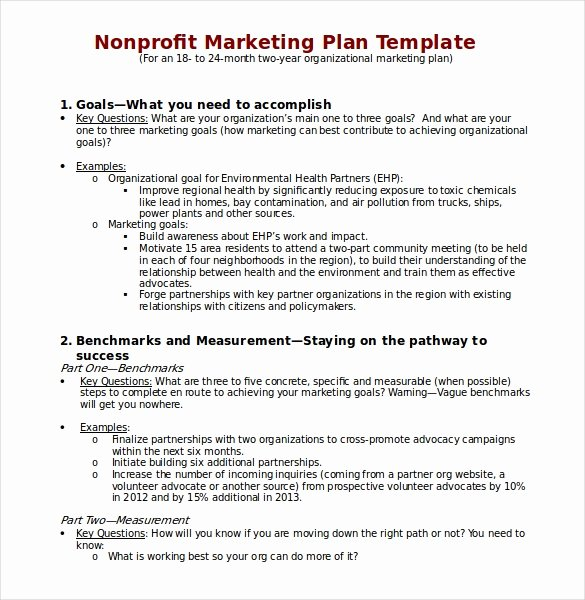 Non Profit Marketing Plan Template Unique 18 Marketing Plan Templates Free Word Pdf Excel Ppt