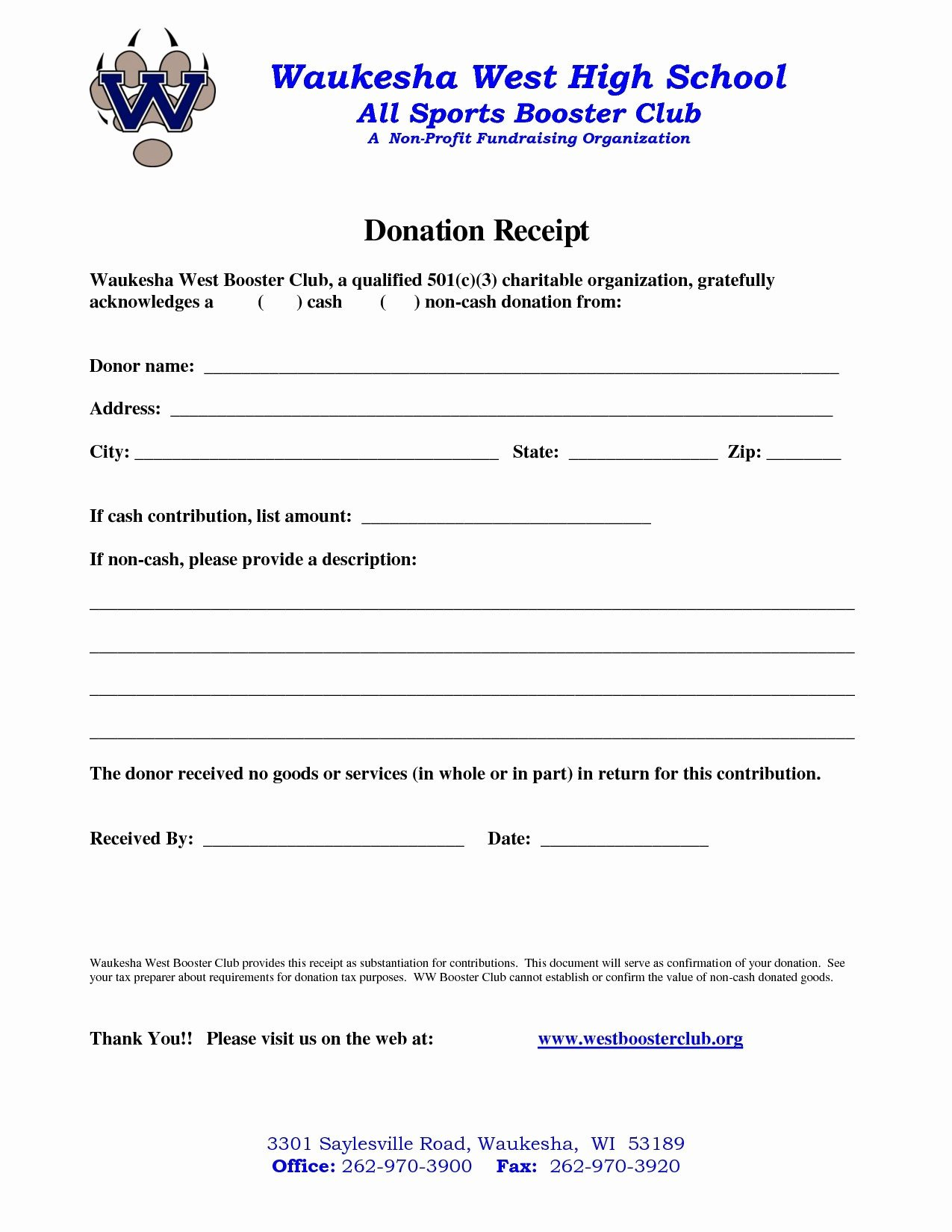 Non Profit Receipt Template Elegant Donation Letter Template for Non Profit organization