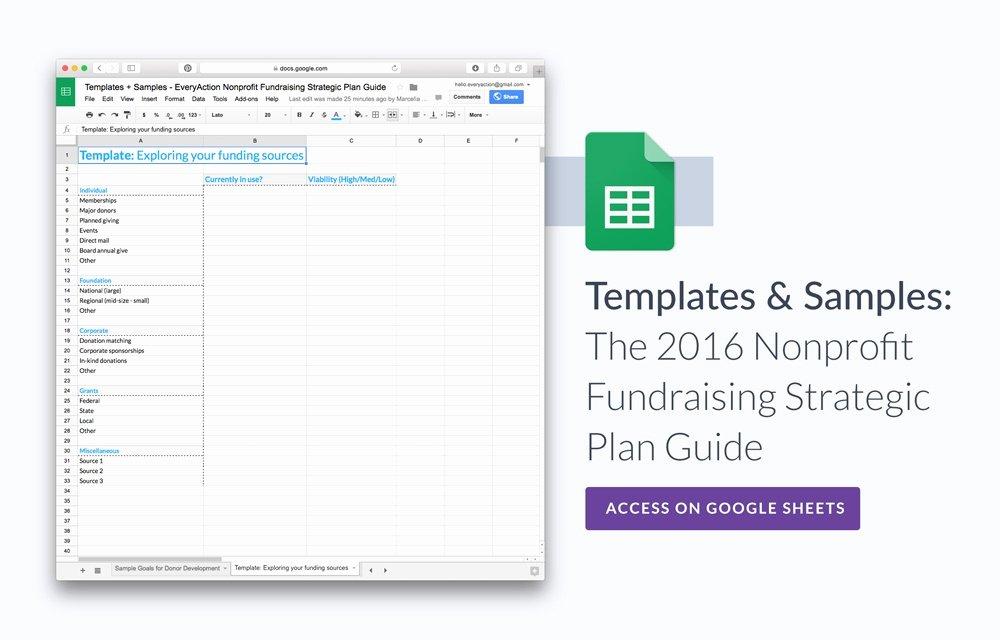 Non Profit Strategic Plan Template Inspirational the Nonprofit Fundraising Strategic Plan Guide