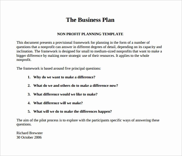 Nonprofit Business Plan Template Pdf Lovely for Profit Business Plan – Essay Helpers