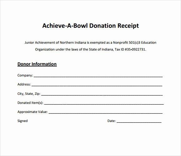 Nonprofit Donation Receipt Template Beautiful 10 Donation Receipt Templates – Free Samples Examples