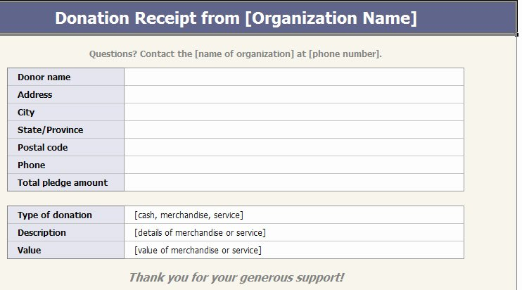 Nonprofit Donation Receipt Template Best Of Receipt Template Category Page 2 Efoza