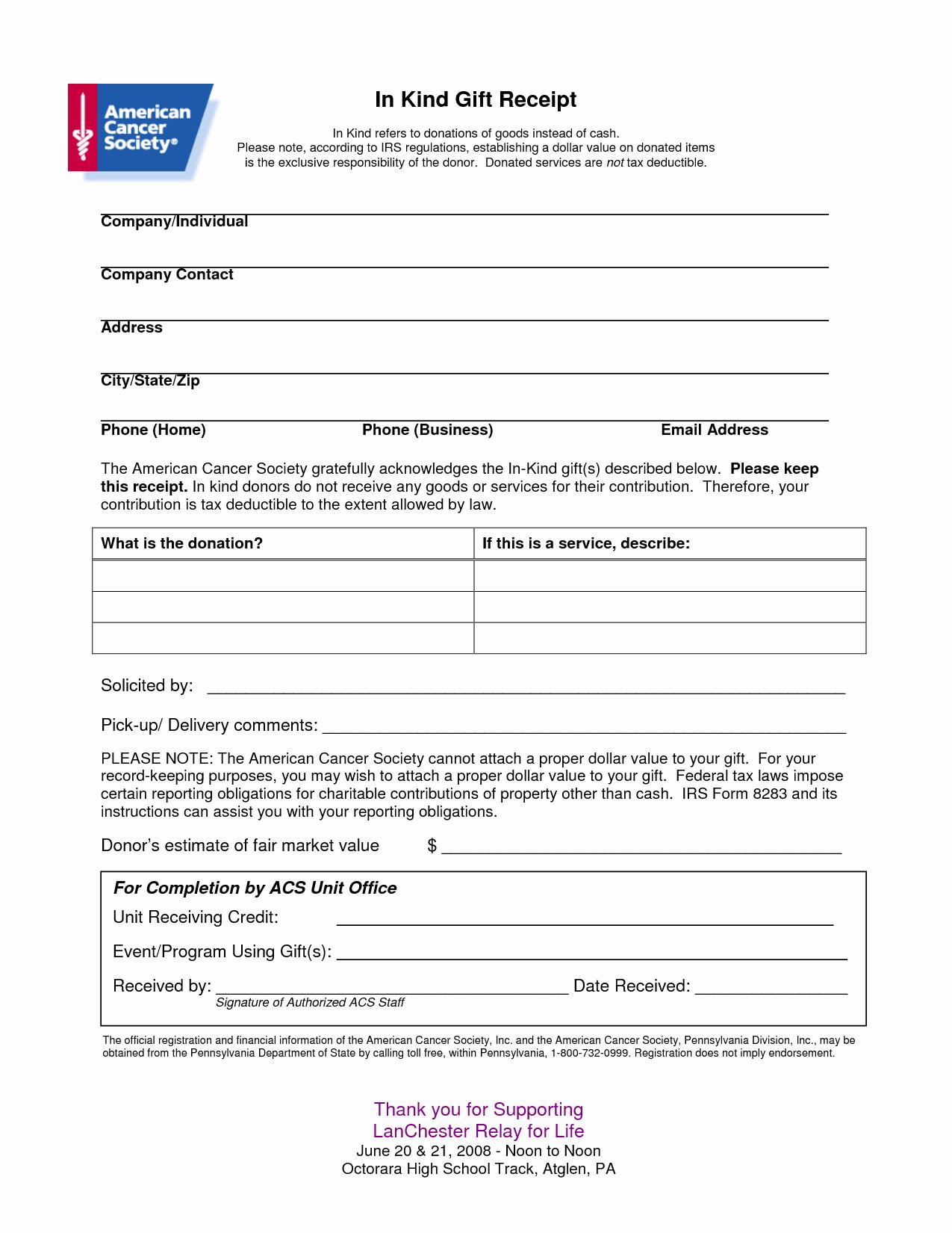 Nonprofit Donation Receipt Template Elegant Non Profit Receipt Of Cash Donation Letter Template