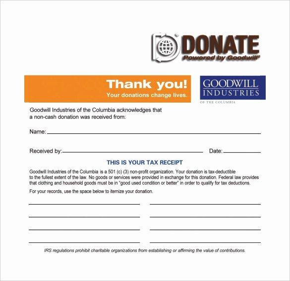 Nonprofit Donation Receipt Template Inspirational 20 Donation Receipt Templates Pdf Word Excel Pages