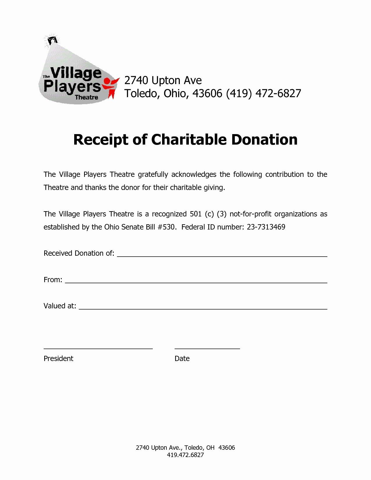 Nonprofit Donation Receipt Template Inspirational Charitable Donation Receipt Letter Template Collection