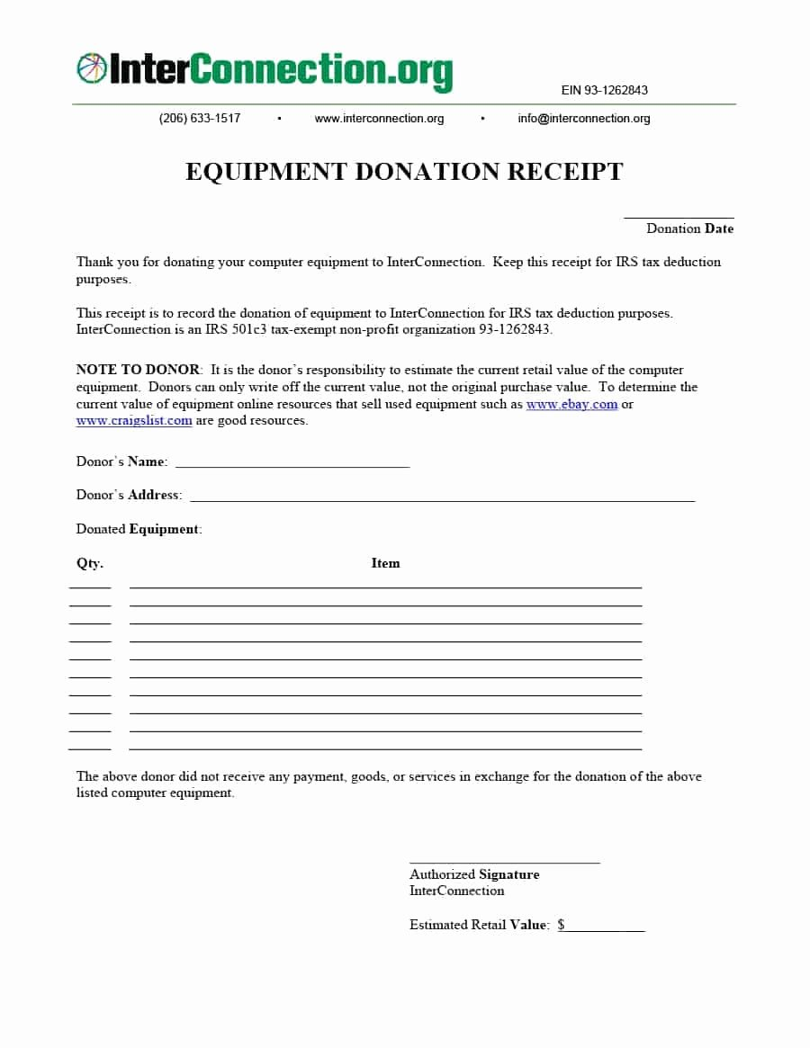 Nonprofit Donation Receipt Template Luxury 40 Donation Receipt Templates & Letters [goodwill Non Profit]