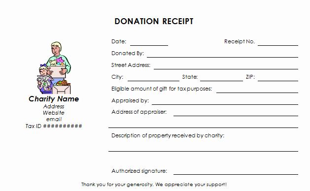 Nonprofit Donation Receipt Template Unique Charitable Donation Receipt Template