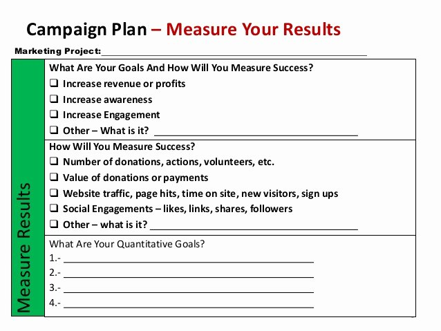 Nonprofit Marketing Plan Template Best Of Non Profit Marketing Campaign Template