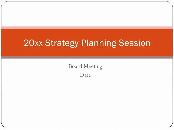 Nonprofit Strategic Plan Template Inspirational Non Profit Strategic Planning Session Template