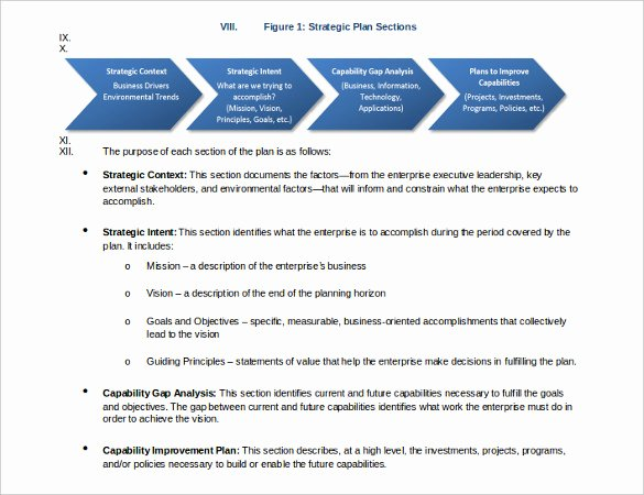 Nonprofit Strategic Plan Template Unique 28 Strategic Plan Templates Pdf Docs