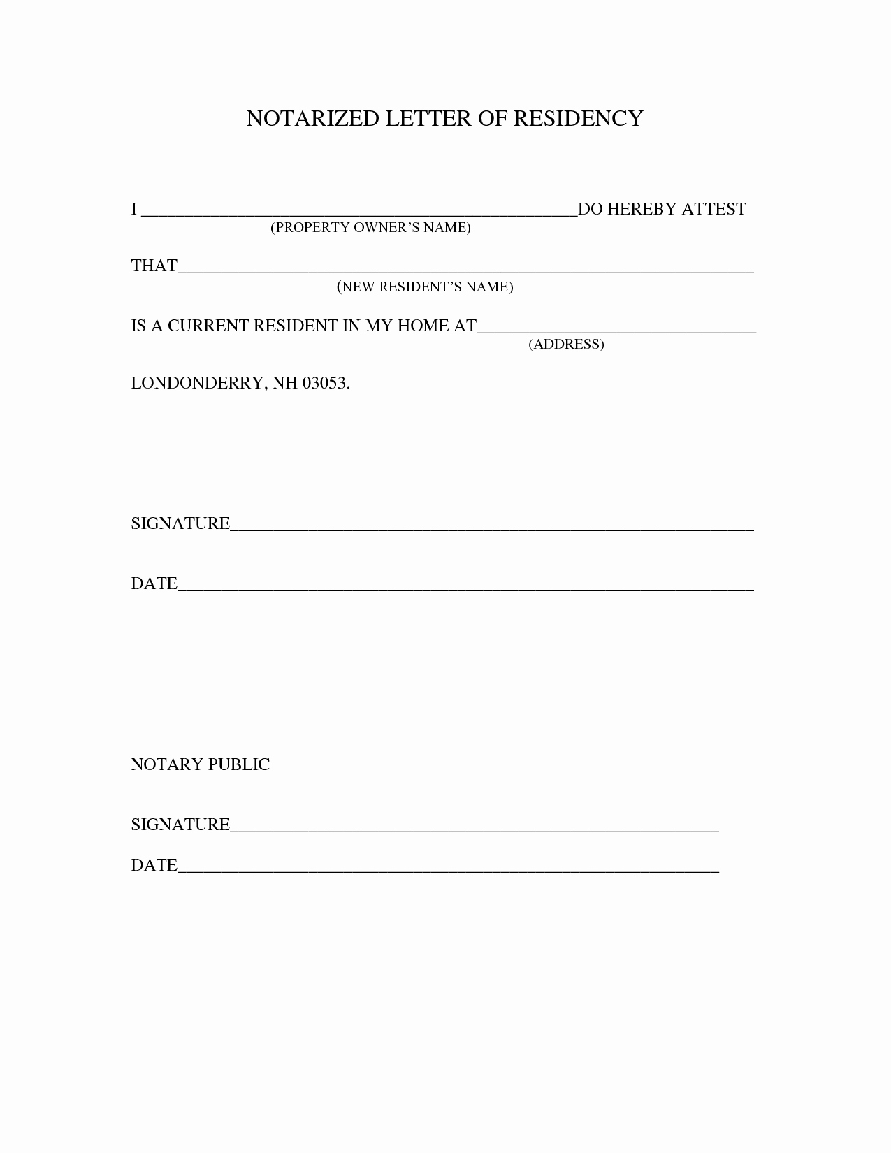 Notarized Letter format Pdf Beautiful Sample Notarized Letter Template