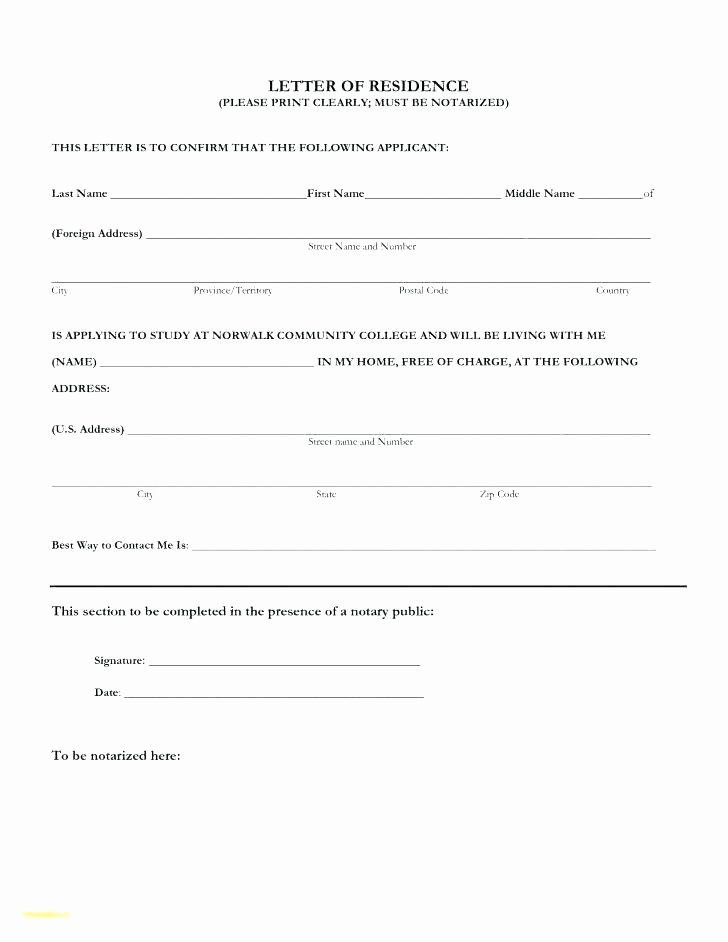 Notarized Letter format Pdf Elegant Notary Template to Luxury Blank Letter for Proof