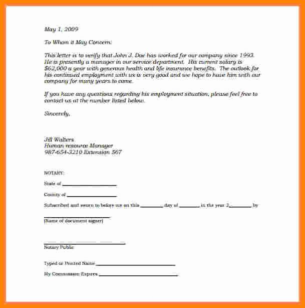 Notarized Letter format Pdf Fresh 6 Notary Statement Sample