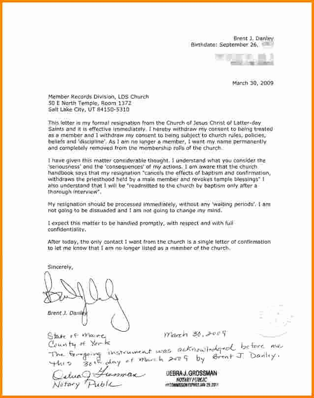 Notarized Letter format Pdf Inspirational Sample Notary Letter