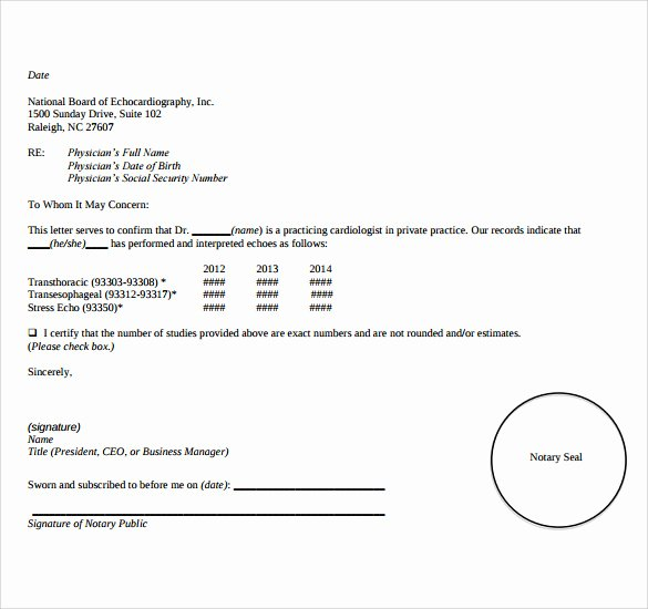Notarized Letter format Pdf Lovely 10 Sample Notarized Letters Pdf Word