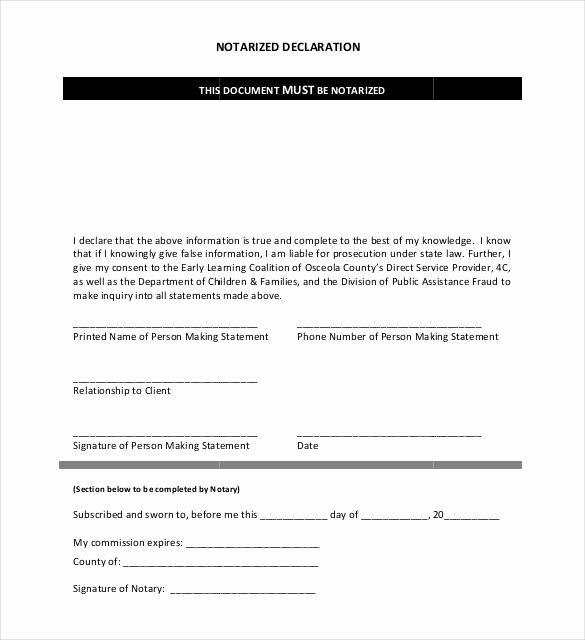 Notarized Letter format Pdf Lovely 32 Notarized Letter Templates Pdf Doc