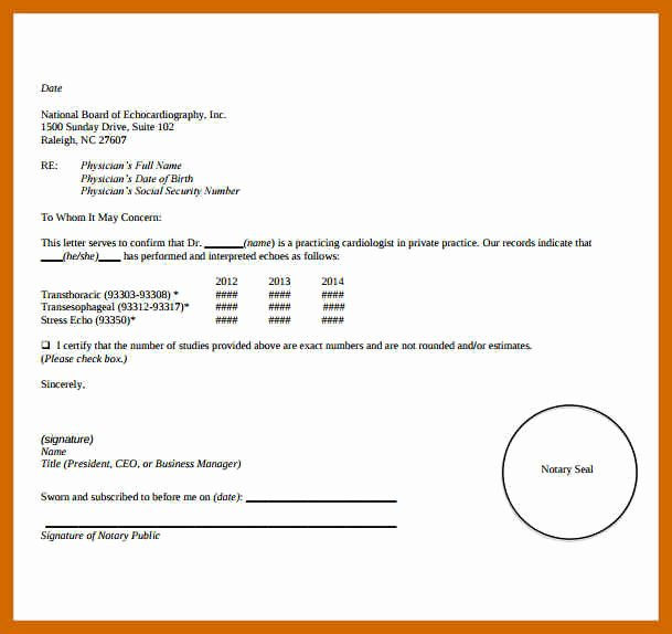 Notarized Letter format Pdf Lovely 6 7 Sample Notarized Letter