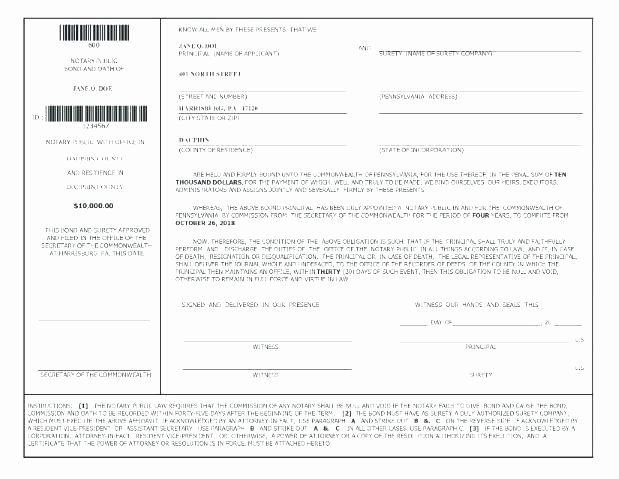 Notary Public Letter format Beautiful Notary form Template