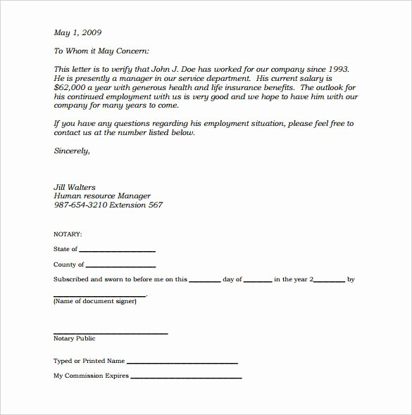 Notary Public Letter format Elegant Notary Document Sample