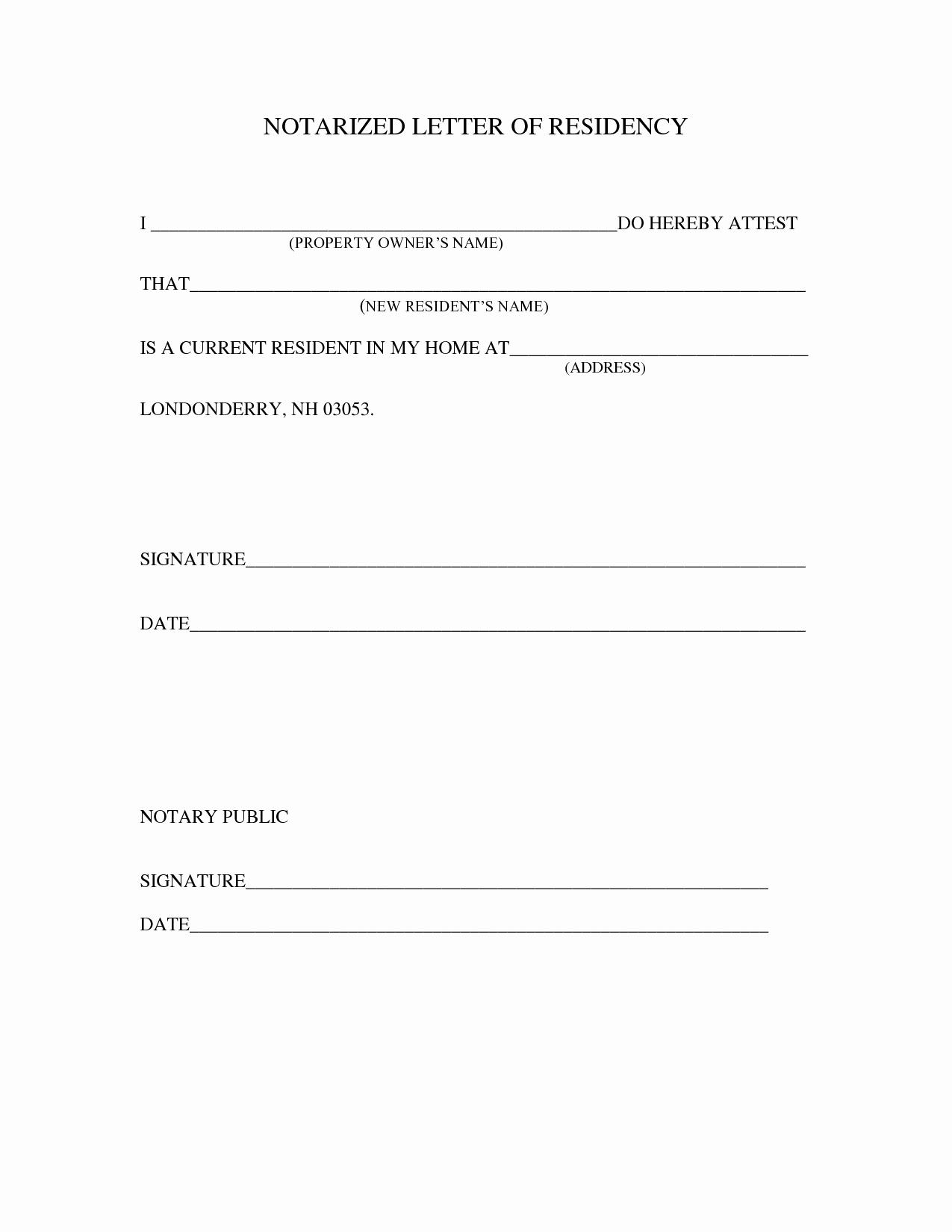 Notary Public Letter format Elegant Sample Notarized Letter Template