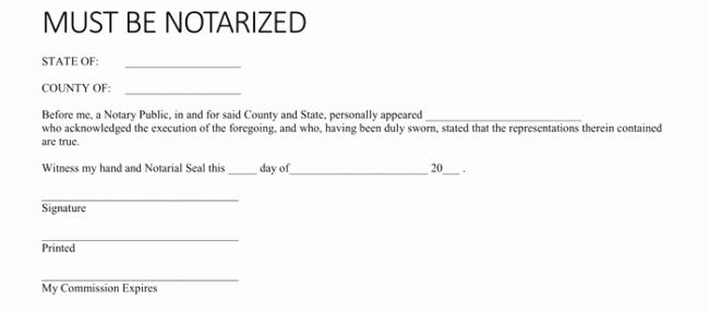 Notary Public Letter format Luxury 25 Notarized Letter Templates & Samples Writing Guidelines