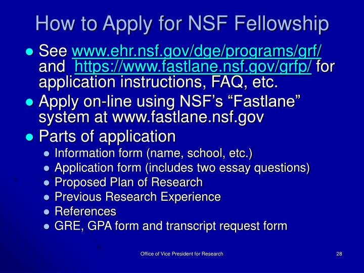 Nsf Grfp Recommendation Letter Best Of Ppt How to Fund Your Graduate Stu S An Overview Of