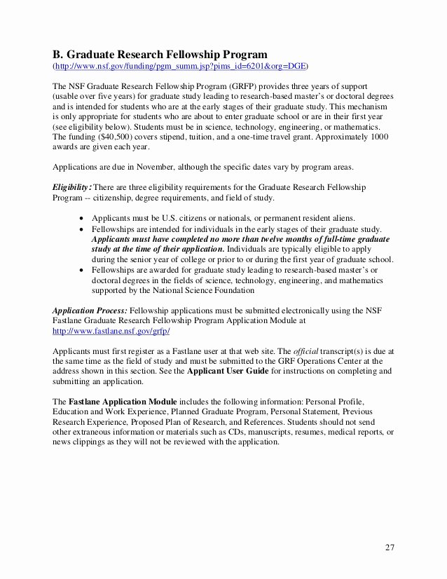 Nsf Grfp Recommendation Letter Unique Preparing Research Proposals In Psychology