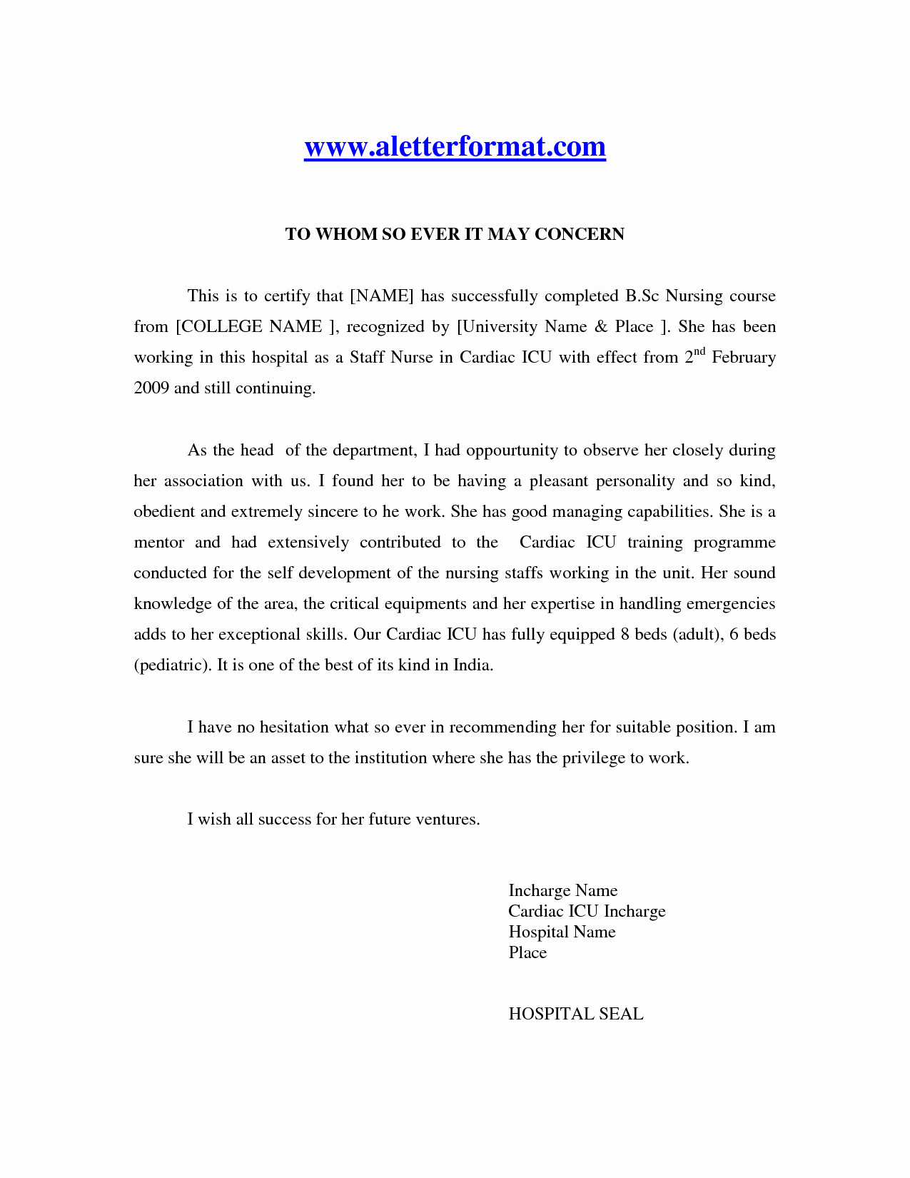 Nurse Practitioner Letter Of Recommendation Inspirational Sample Re Mendation Letter for Nursing Hashtag Bg